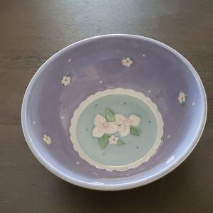 Cute Purple Floral Serving Bowl